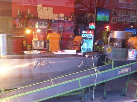 Tortilla Machine in the Window