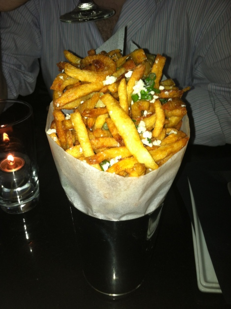Crispy Fries, Blue Cheese, Scallions, Black Truffle