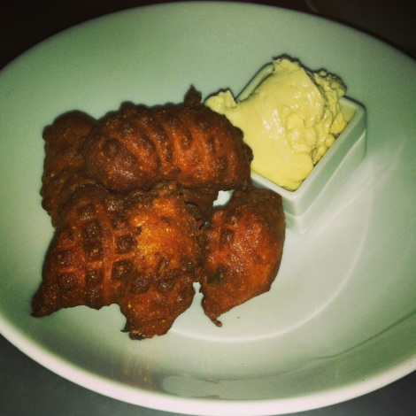Jalapeno Hush Puppies with Maple Butter