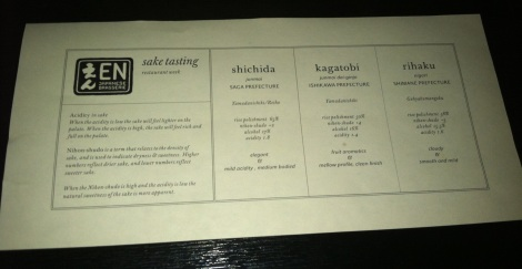 sake menu - en