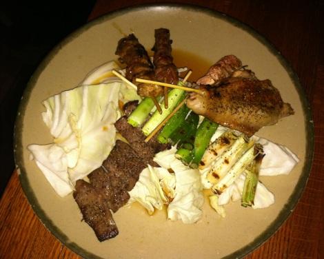 Beef, Scallion, Chicken, Chicken Wing, Beef Tongue, Shrimp