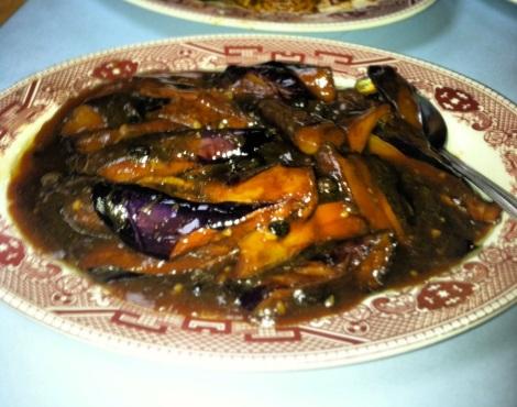 Eggplant in Black Bean Sauce