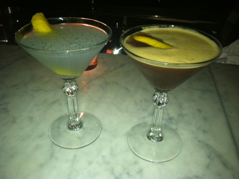 Aviation (Left), Espresso Martini (Right)