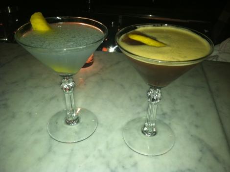Aviation (Left), Espresso Martini (Right)