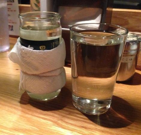 Left - Hot Sake;Right - Cold Sake