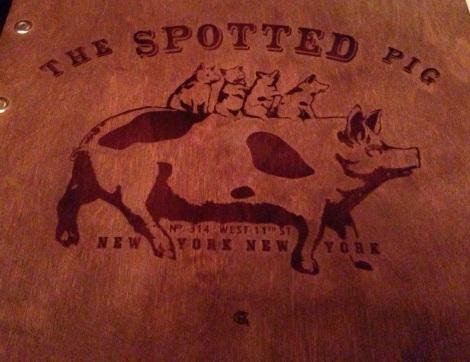 spotted pig menu