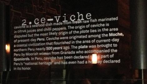 ceviche sign - picca