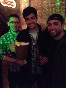 Dan, Mike & Mike and our free pitcher of Weisse Beer