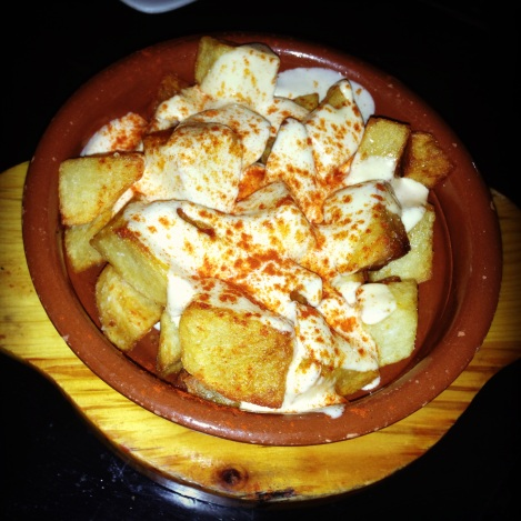 Patatas Bravas - Crispy Potatoes, Smokey-Spicy Aioli