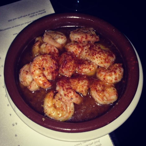Shrimp, Garlic, Olive Oil, Chile