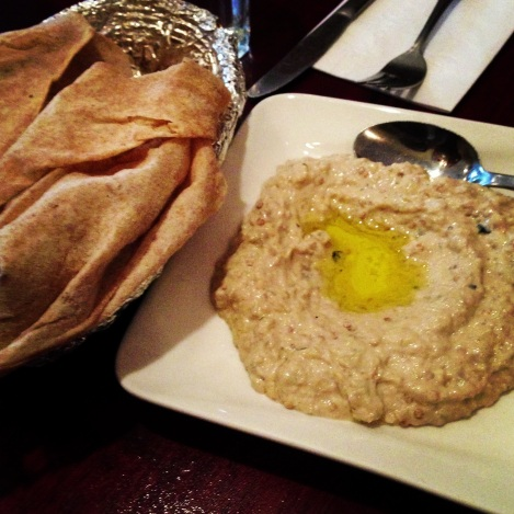 Babaganoush, Olive Oil, Tahini, Pita Bread
