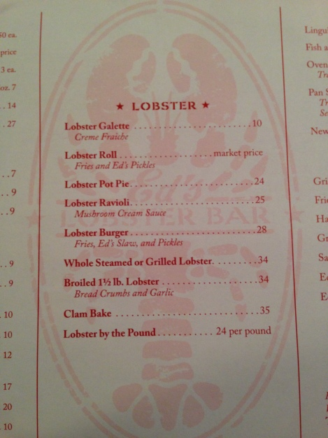 options - ed's lobster bar