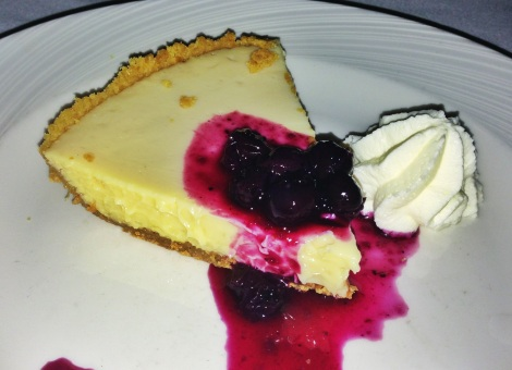 Keylime Pie, Blueberry Compote, Whipped Cream