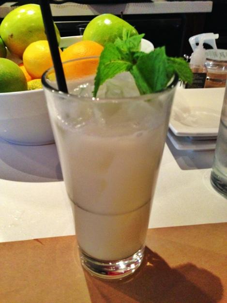 Bacardi Pineapple Fusion, Coconut Milk, Chipotle, Mint