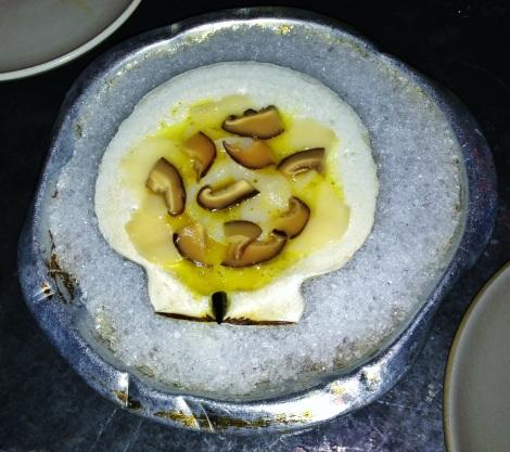 Gloucester Scallop, Yuzu Kosho, Pickled Shiitake Mushrooms