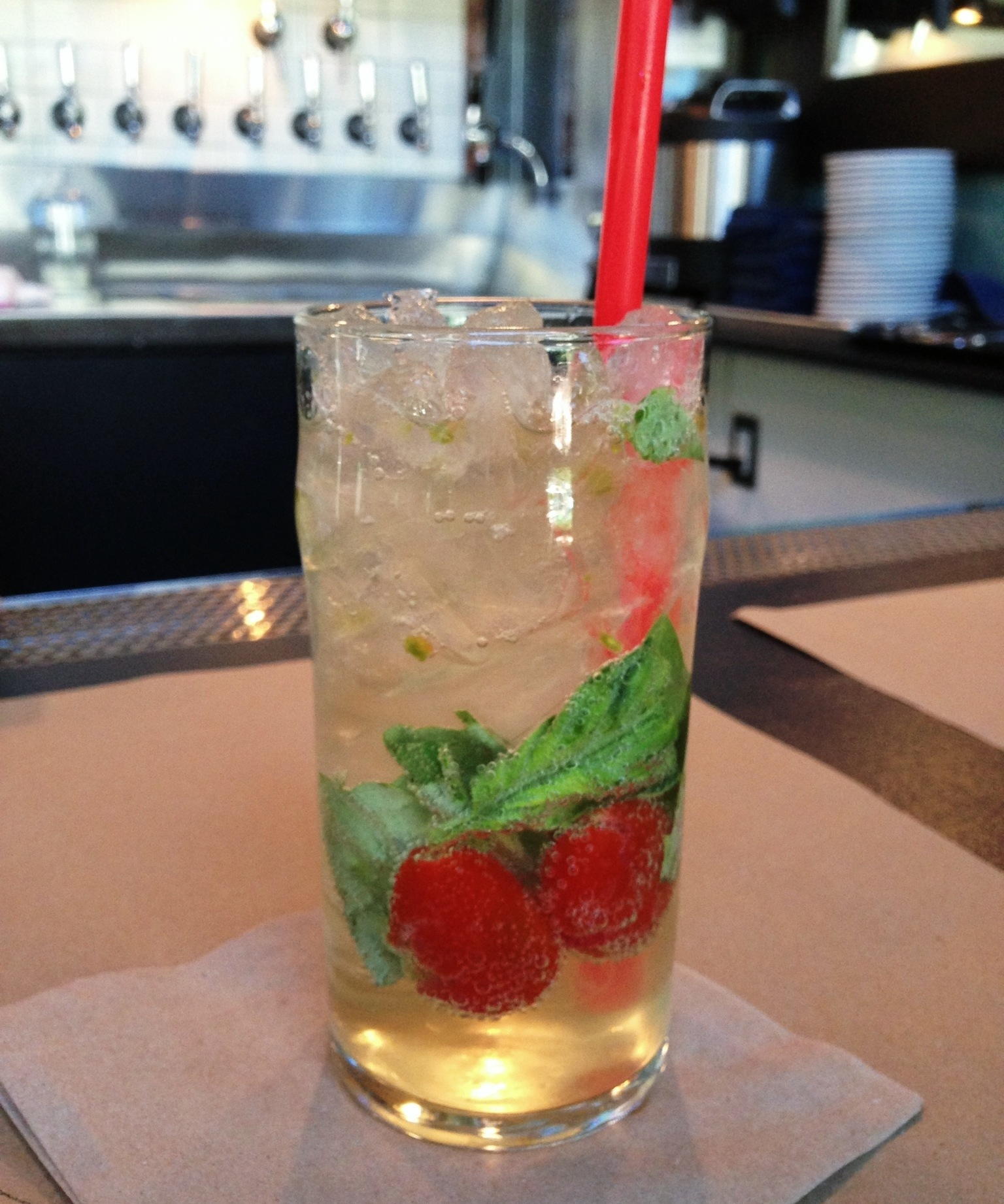 Cherry-Basil Soda Recipe — Dishmaps