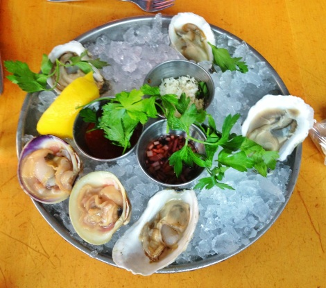 Beach Point Oysters, Moon Shoal Oysters, Barnstable Little Neck Clams