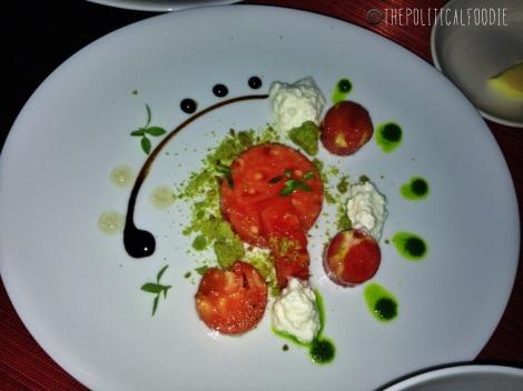Heirloom Tomato, Ricotta, Crumbled Pesto, Aged Balsamic, Basil Oil