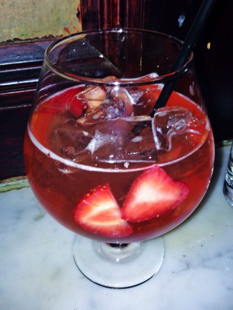 Delicious, Red Wine and Champagne Sangria from Bourgeious Pig in the East Village