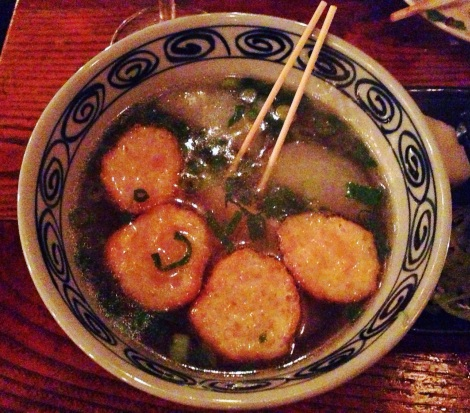 Fishcakes in Daikon Broth Soup from Hanjan in New York City