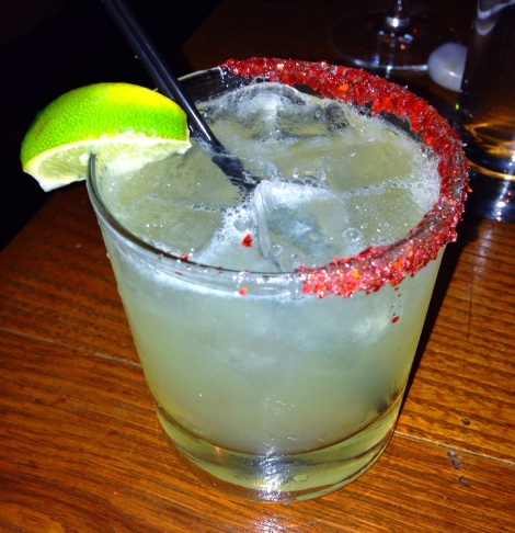 Asian Firecracker - Chili Infused Tequila, Soda, Bitters, Lime, Chili Salt Rim