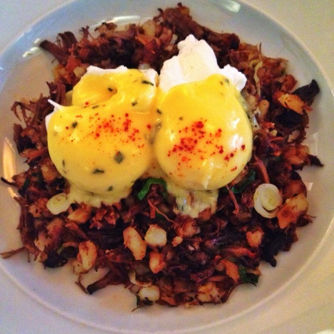 Short Rib Hash, Poached Eggs, Béarnaise