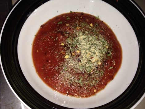 Step 4 - mix up pre-made tomato sauce to your liking