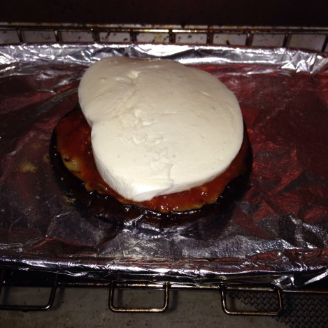 Step 7: Place the stack in the oven on Broil
