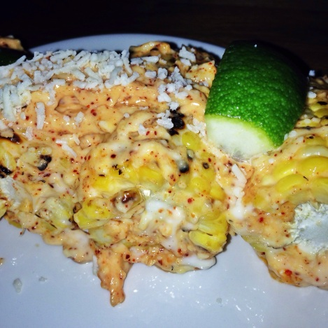 Maiz Asado Con Alioli y Queso Cotija – Grilled Corn with Aioli, Lime, Espelette and Aged Cheese