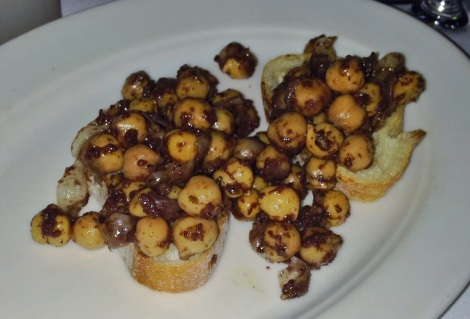 Crostini with Chick Peas and Olive Tapenade