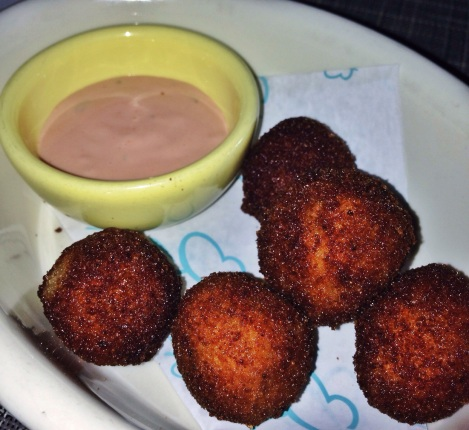 Reuben Croquettes with Thousand Island Dipping Sauce at The Butterfly in Tribeca NYC New York City