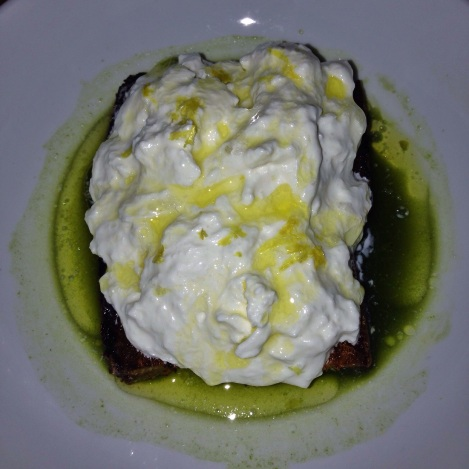 Burrata, Charred Bread,