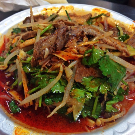 Lamb Face Salad, Xi'an Famous Foods, Golden Mall, Flushing Queens