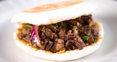 Spicy Cumin Lamb Burger (image c/o of Xi'an Famous Foods)