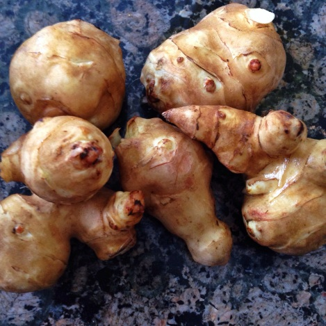 Sunchokes, in their raw form