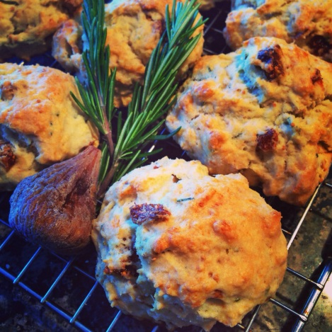 Fig and Rosemary Scones