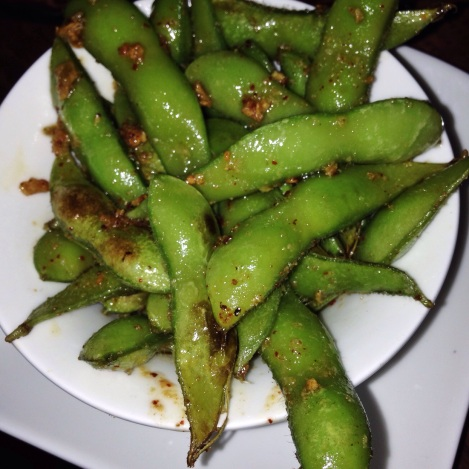 Mexico City style sauteed Edamame, Arbol Chile, Lime, Toasted Garlic
