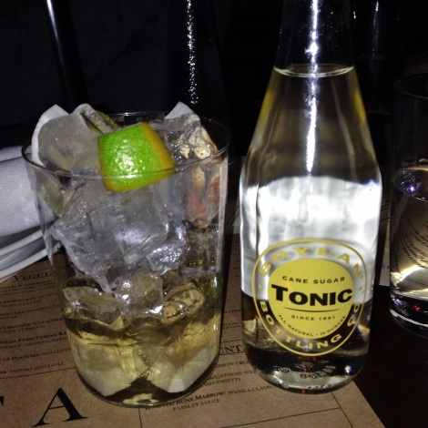 Toasted Coconut Gin & Tonic at Cata in NYC