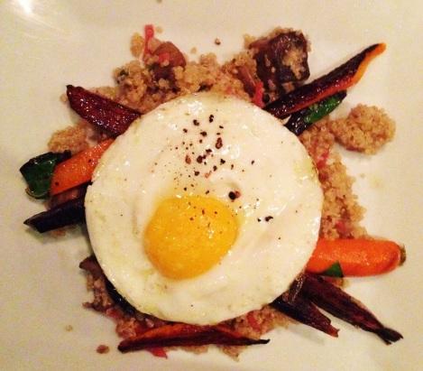 Roasted Market Vegetables 16 Organic Quinoa, Soffrito, Miso Mushroom, Roasted Carrots, Egg
