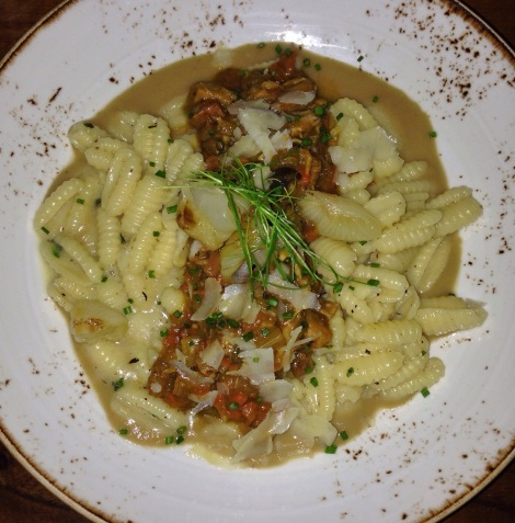 Cavatelli with Rabbit & Pancetta Ragu, Smoked Cipolini Onion, Parmesan  Tessa NYC Restaurant Upper West Side UWS Pasta