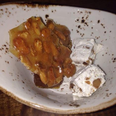 Peanut Brittle, Nougatine, Salted Caramel Gelee Tessa NYC Restaurant Upper West Side UWS Dessert