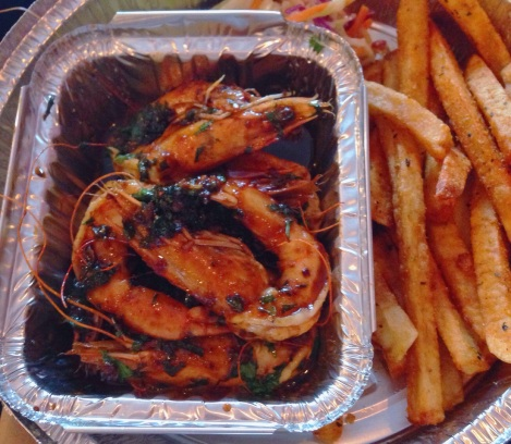BBQ Shrimp with Cajun Fries