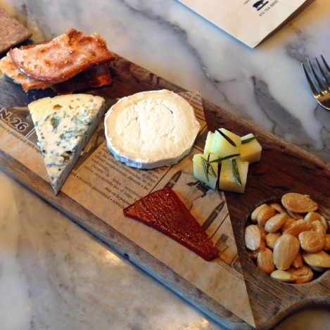 Cheese Plate - Blue Cheese, Goat Cheese, Manchego with Rosemary, Olive Oil Tosta, Membrillo, Marcana Almonds