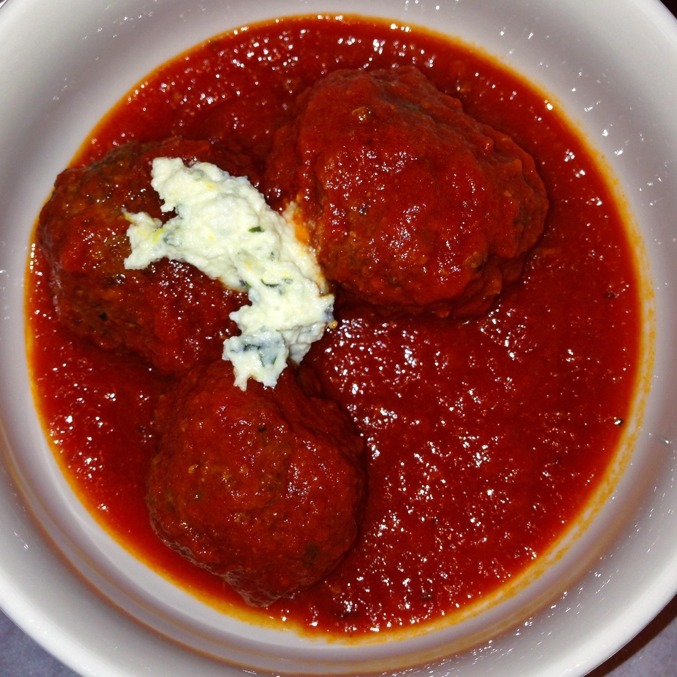 Meatballs With Ricotta In Tomato Sauce Recipe — Dishmaps