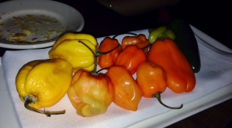 Variety of Chilis served with Pasta