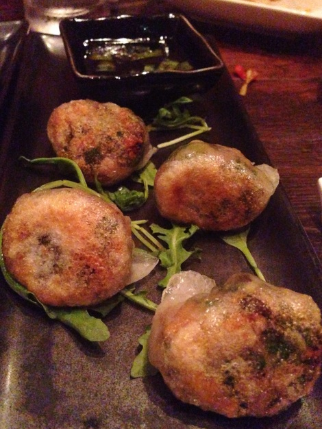 Pea Shoots and Peanut Dumplings with Sesame Soy Sauce