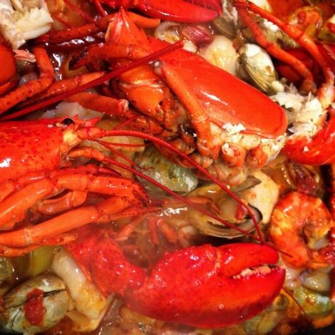 Bouillabaisse with Lobster, Scallops, Shrimp, Clams, Calamari and Cod