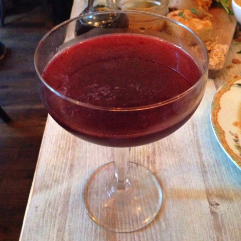 Blackberry Saddle - Death Door Gin, Yellow Chartreuse, Blackberries, Horseradidsh, Lime and Thyme
