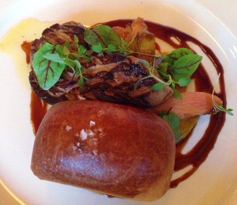Pan-Roasted Foie Gras with Rhubarb Compote and Homemade Brioche