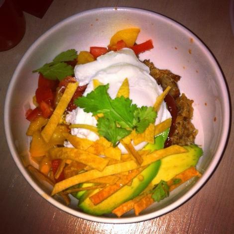 El Camino -- Poached Egg, Carnitas, Avocado, Tomato, Crispy Tortilla, Cilantro